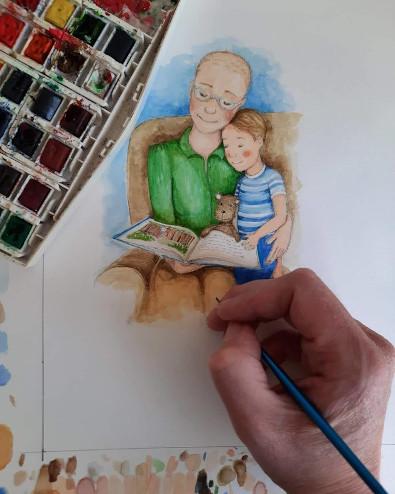 children's cancer book illustration