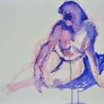 Blue Gesture 2 (caran d'ache on watercolor paper)