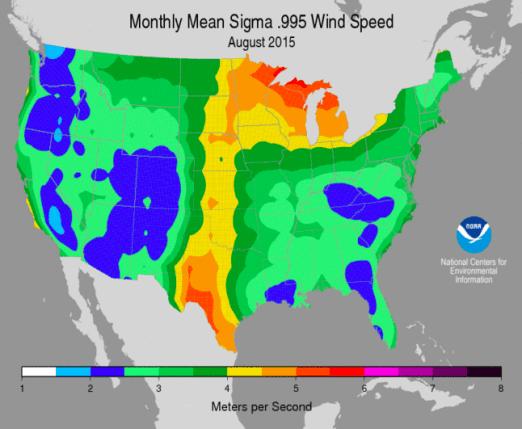 NOAA wind map 2015