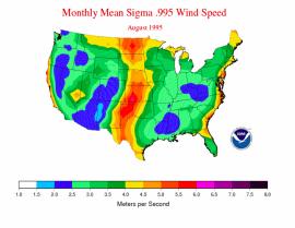 NOAA wind map 1995