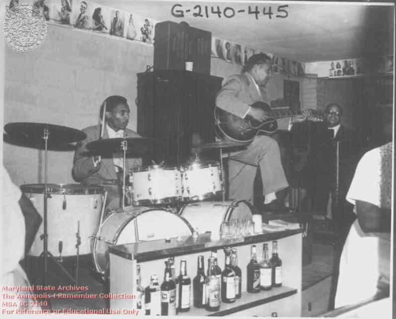 Bengazi Room at Carr's Beach in 1958 with Wild Bill performing