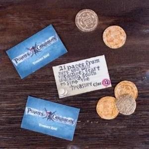 Pirates of the Caribbean Clue Cards - pirate treasure hunt ideas