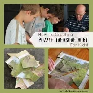 Puzzle Treasure Hunt - pirate treasure hunt ideas