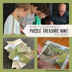 Puzzle Treasure Hunt - pirate treasure hunt ideas