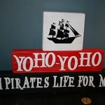 Yo Ho Sign - Pirate Party Ideas Table Decorations