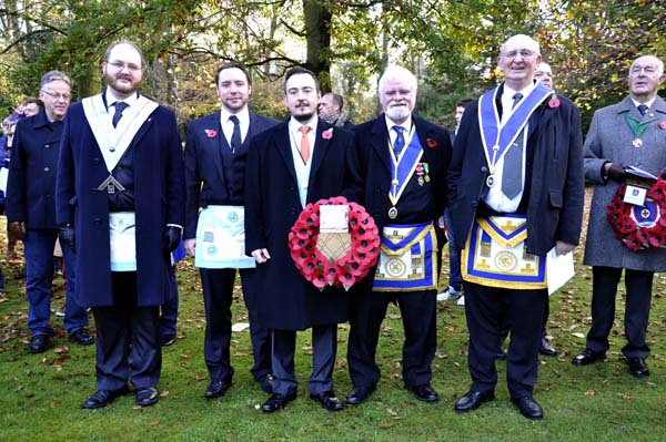 Members of Stamford and vvvv Lodge