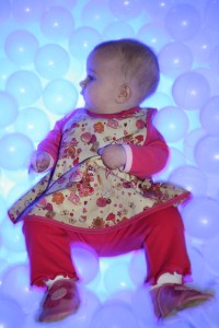 Baby G in one of her Sophie 4 Sophie dresses