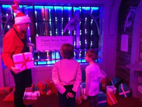 Sorting presents in Santa's workshop