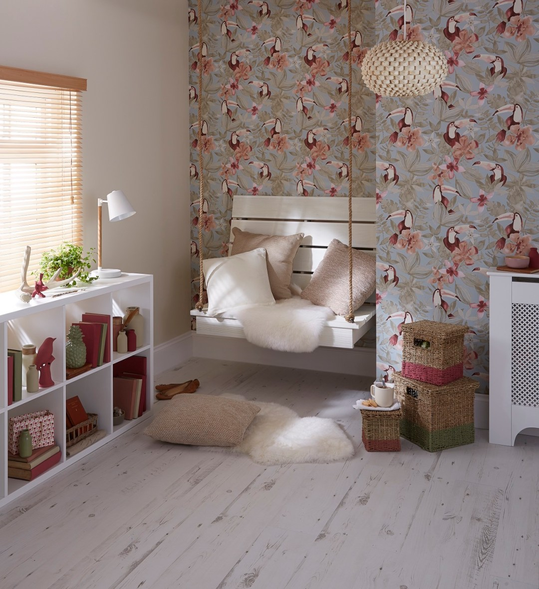 Colours Neutral Reading Nook, exclusively available at B&Q