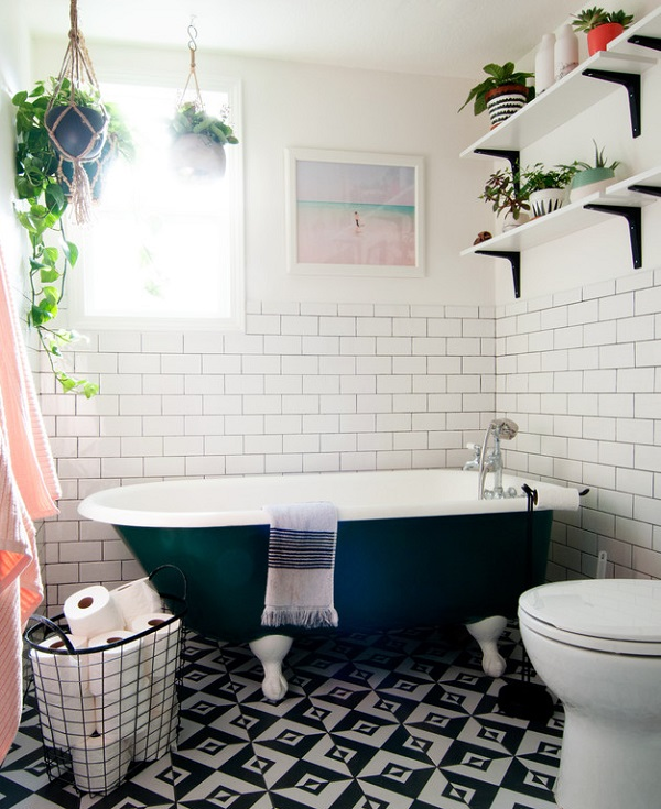 Fancy Houseplants add a splash of colour to a neutral bathroom and if you buy the right kind they help to purify the air too Plants can help you to relax