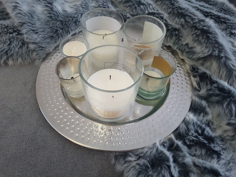 Candle Silver Charger From Wilko