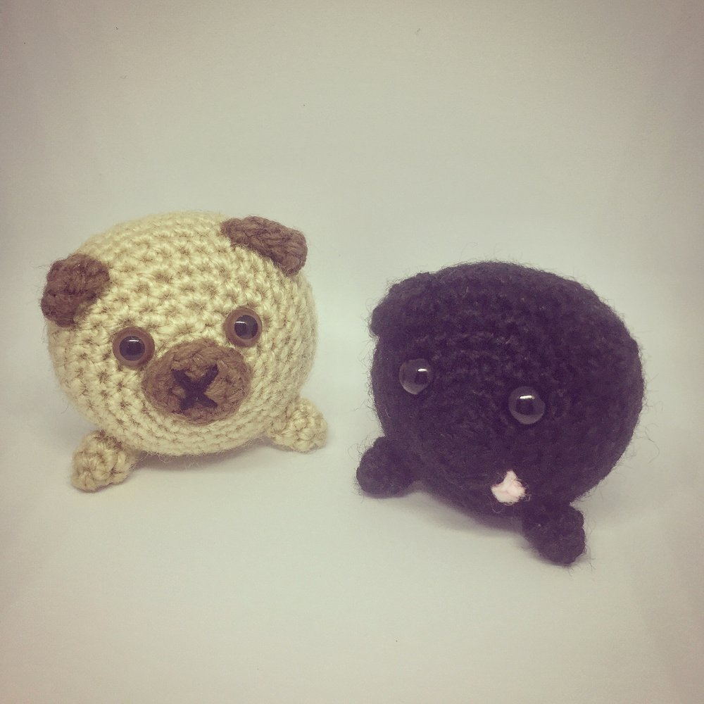 Crochet Pug 11 Rugby Road
