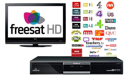 Freesat HD & SD professionally installed in Cheshire