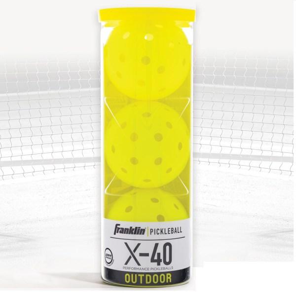 Franklin Pickleball X40 ballen | 3stuks optic geel