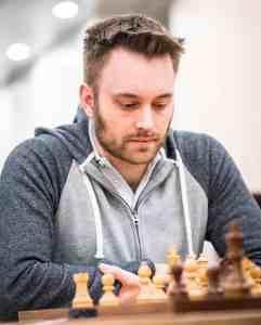 John Bartholomew in action. At the weekend he beat Praggnanandhaa