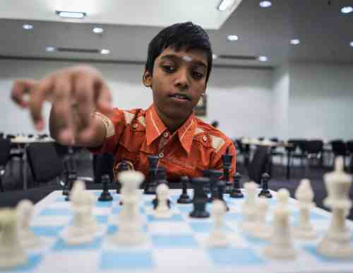 Praggu is gunning for his final two Grandmaster norms. Photo by LENNART OOTES