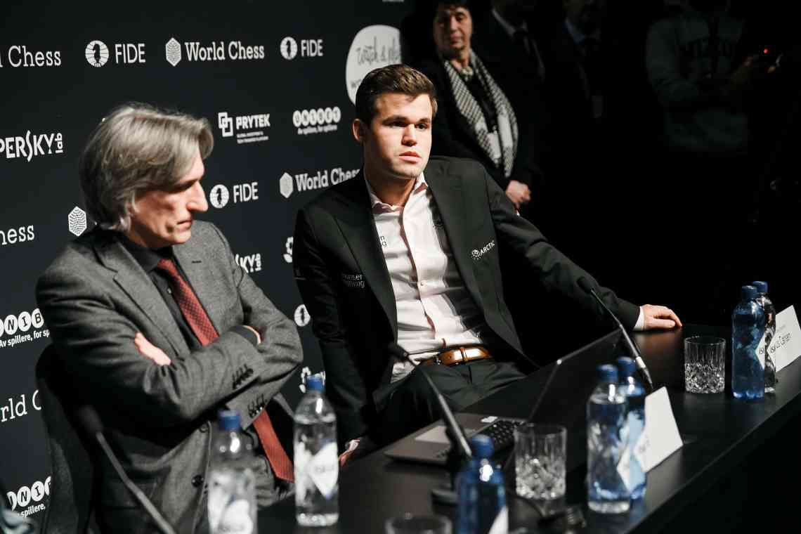 Carlsen-Caruana Game 7 press conference