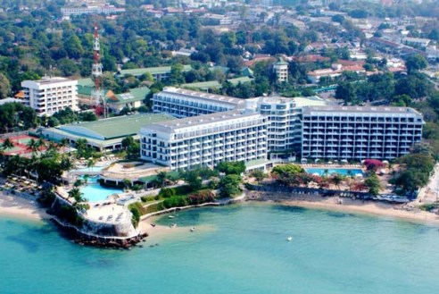 Aerial view of The Dusit Thani Pattaya