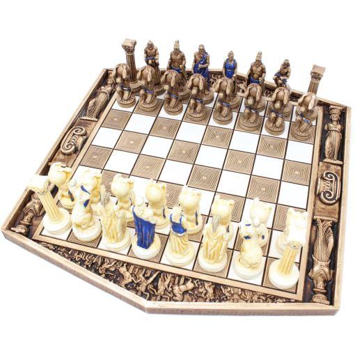 ARMA 陶器のチェスセット アトラス 31cm 青 7