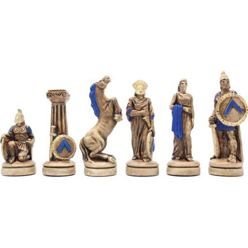 ARMA 陶器のチェスセット レオニダス 31cm 青 15