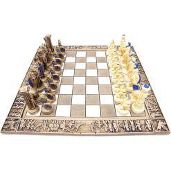 ARMA 陶器のチェスセット レオニダス 31cm 青 8