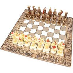 ARMA 陶器のチェスセット レオニダス 31cm 赤 1