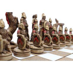 ARMA 陶器のチェスセット レオニダス 31cm 赤 4