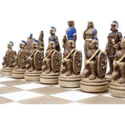 ARMA 陶器のチェスセット トロイア戦争 31cm 青 5