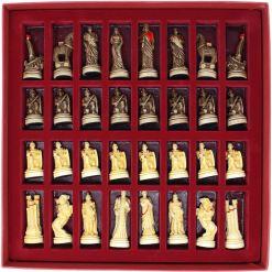ARMA 陶器のチェスセット トロイア戦争 31cm 赤 19