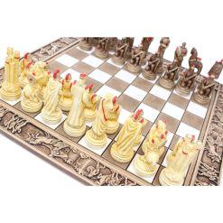 ARMA 陶器のチェスセット トロイア戦争 31cm 赤 2