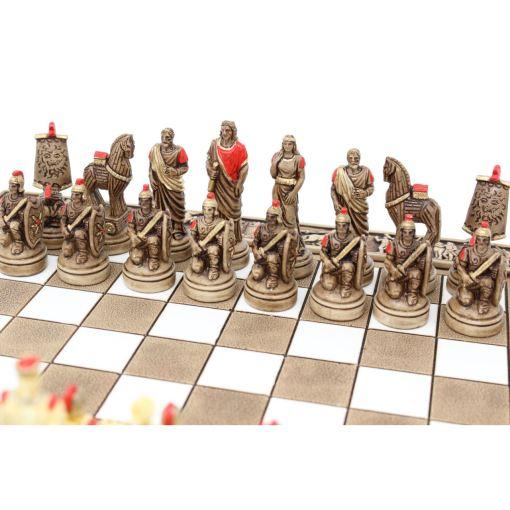 ARMA 陶器のチェスセット トロイア戦争 31cm 赤 3