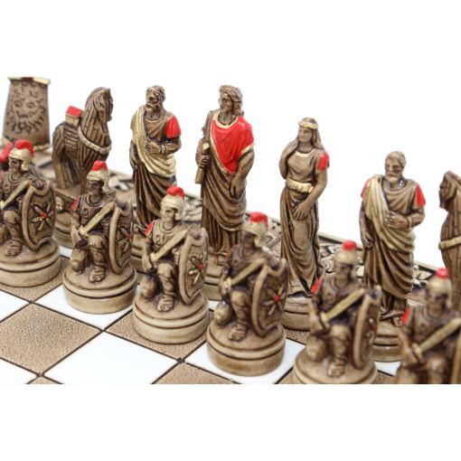 ARMA 陶器のチェスセット トロイア戦争 31cm 赤 4