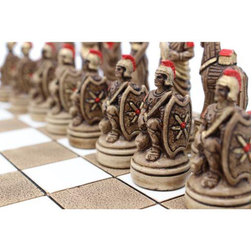 ARMA 陶器のチェスセット トロイア戦争 31cm 赤 5