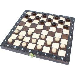 木製ゲームセット チェス/バックギャモン/チェッカー 27cm 14