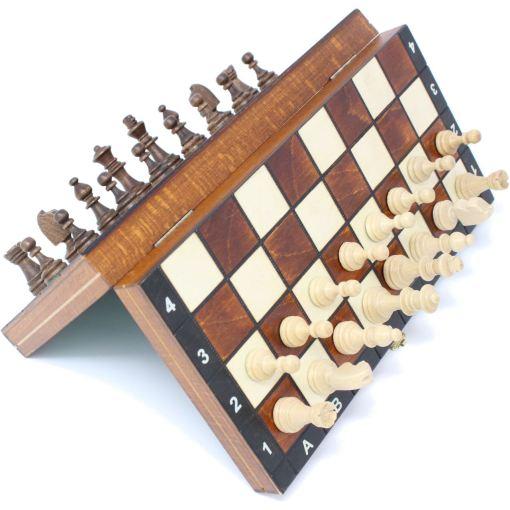 Wegiel 木製チェスセット マグネティック 27cm 15