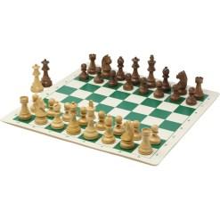 チェスジャパン チェス駒 スタンダード・スタントン 95mm 日本チェス連盟公式用具 20