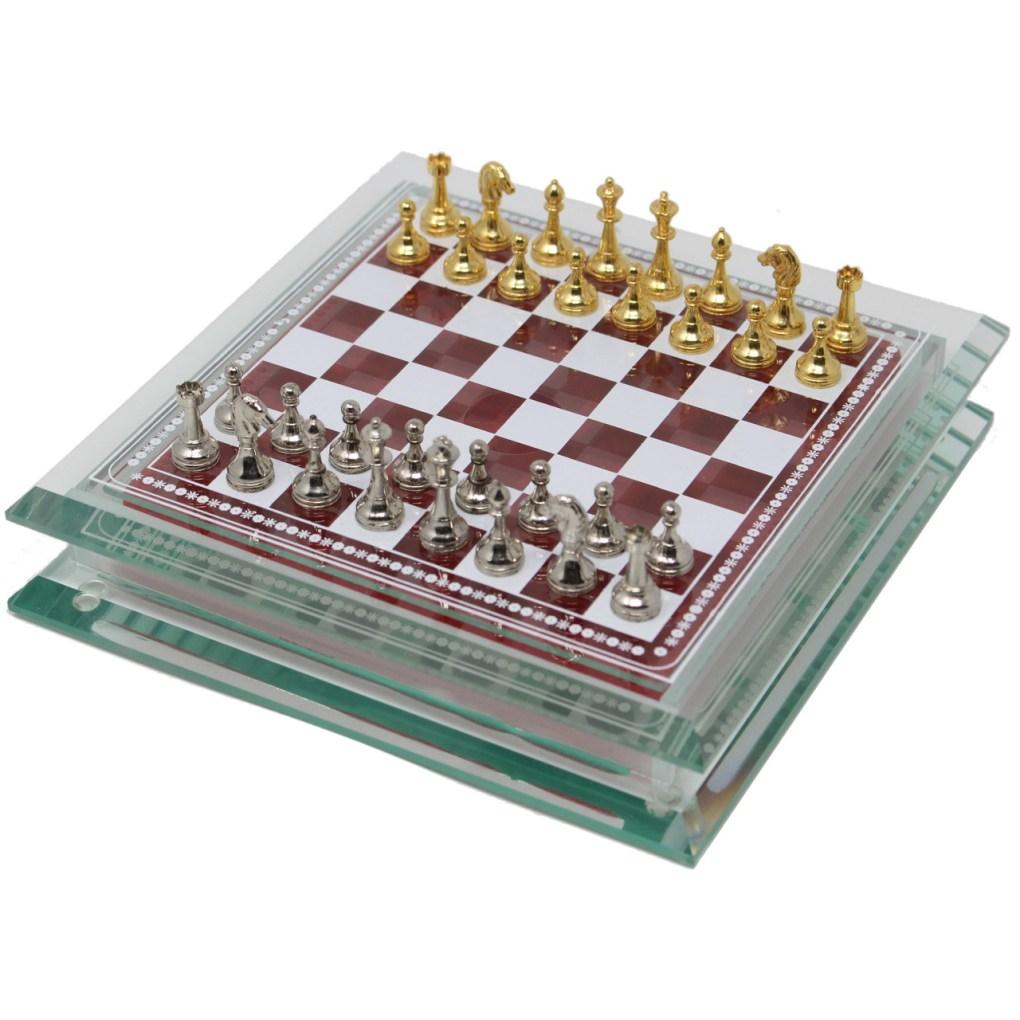 Italfama ガラスと金属のチェスセット 1