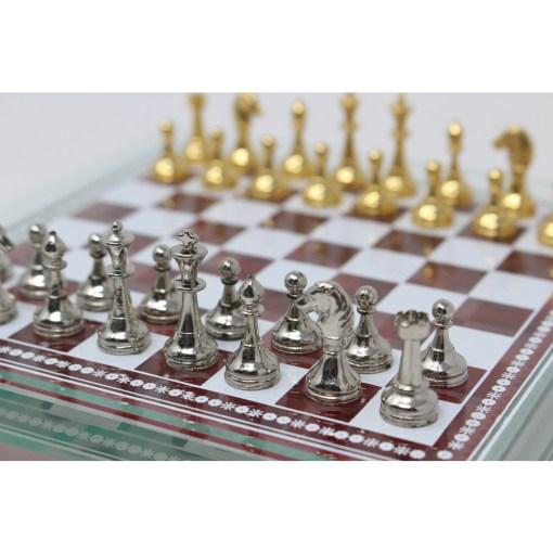 Italfama ガラス製チェスセット 金属製チェス駒 2