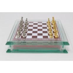 Italfama ガラス製チェスセット 金属製チェス駒 5