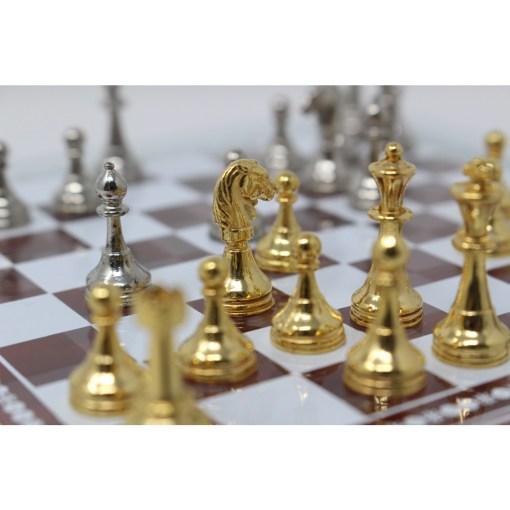 Italfama ガラス製チェスセット 金属製チェス駒 11