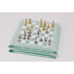 Italfama ガラス製チェスセット 金属製チェス駒 13