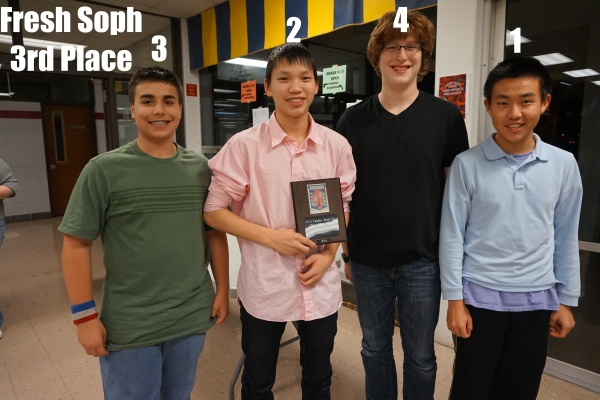 BTHS Fresh Soph Chess Team 3rd Place Clinch p