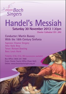 Poster for Handel's Messiah Concert