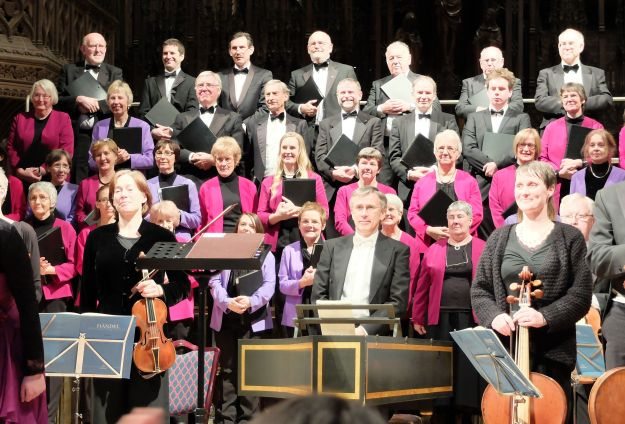 30-Nov-13: Handel's Messiah performed by Martin Bussey with Chester Bach Singers, the 18th Century Sinfonia, Eleanor Gregory (soprano), Katie Bray (alto), Richard Dowling (tenor) and Louis Hurst (bass)