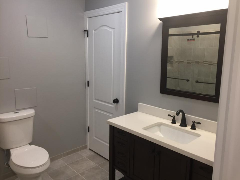 chester county basements - basement bathrooms and laundry rooms