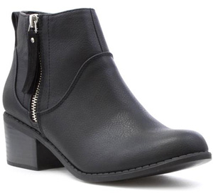 Lilley Block Heeled Ankle Boots