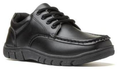 Trux Boys Black Lace Up Flat Shoe