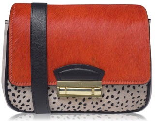 Biba Calissa Small Lock Leather Crossbody