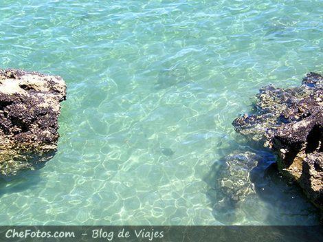 Aguas transparentes en Valdés