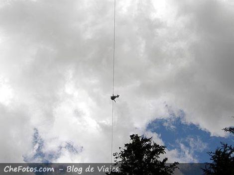 Vuelo del Aguila, Tirolesa
